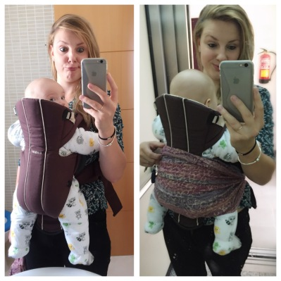 Simple but effective baby-carrier scarf hack